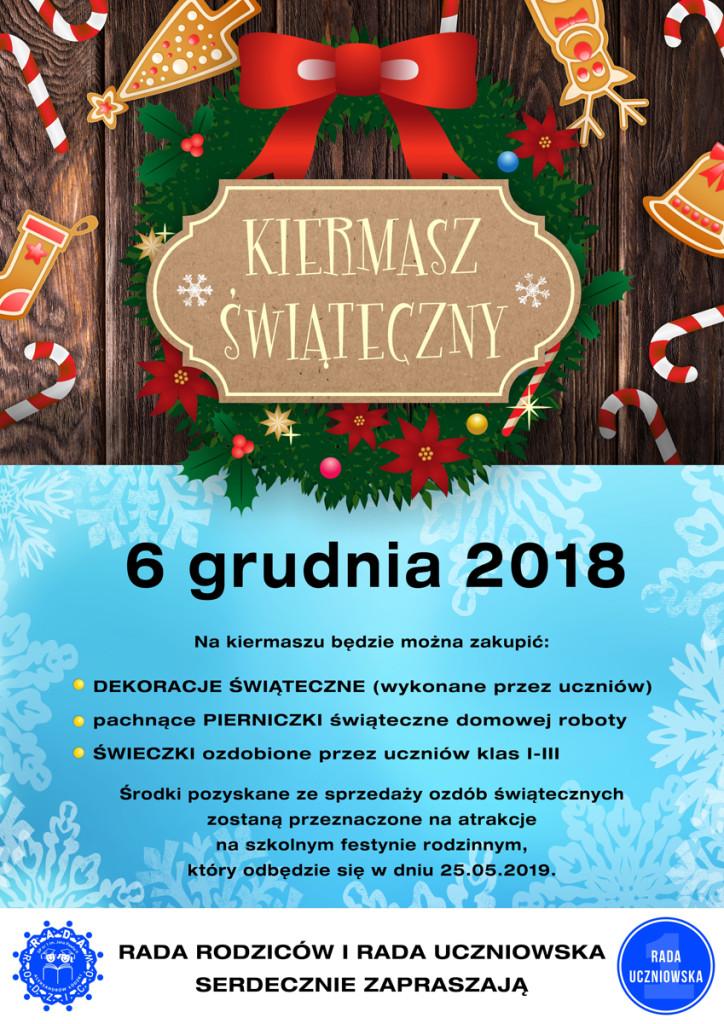 Plakat na kiermasz świąteczny 2018_v6_mini